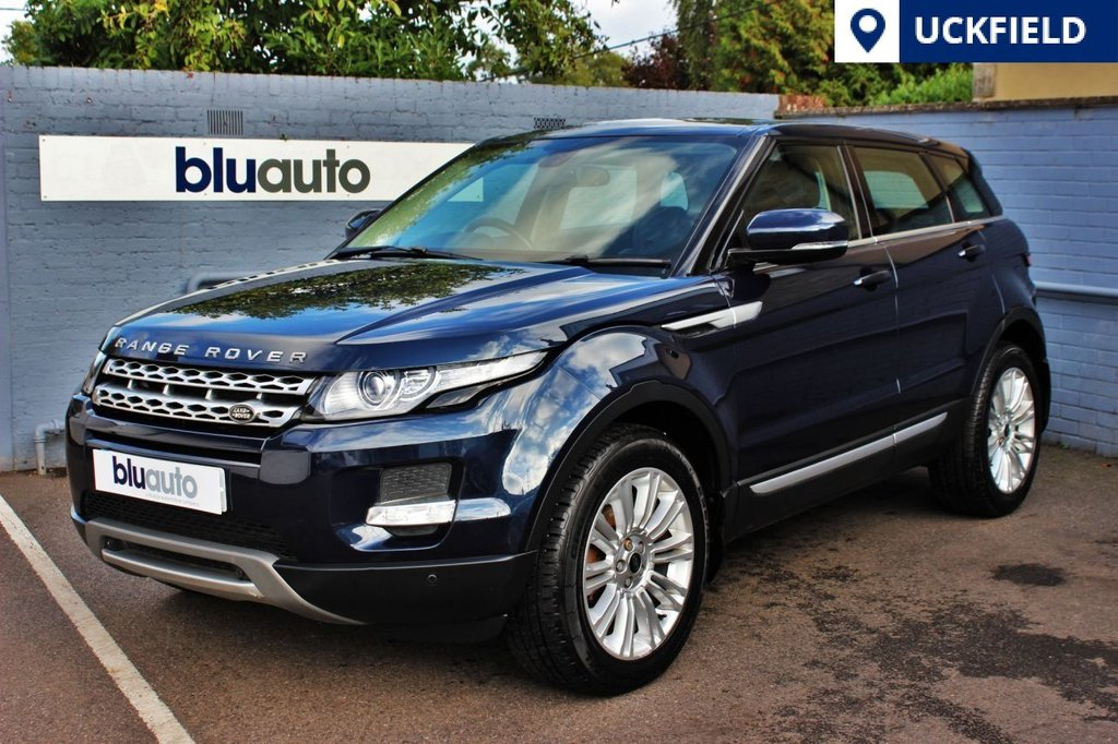 USED 2013 62 LAND ROVER RANGE ROVER EVOQUE 2.2 SD4 PRESTIGE 5d AUTO 190 BHP 2 Owners, Full Service History, Parking Sensors, Rev Camera, Sat Nav, Heated Electric Leather Memory Front Seats, Cruise Control, Dual Climate/Cruise Control.