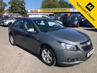 USED 2011 11 CHEVROLET CRUZE 1.6 LS 4d 124 BHP IN METALLIC GREY WITH ONLY 72600 MILES, 2 OWNERS, GREAT SPEC AND IS ULEZ COMPLIANT (PART EXCHANGE TO CLEAR) Approved Cars are pleased to offer this 2011 Chevrolet Cruze 1.6 LS 5 door saloon in metallic grey with only 72600 miles. This is a stunning car and will make a very budget friendly family saloon. The car has been really well looked after and has a full service history being serviced at 10k, 30k, 40k, and at 70k miles with invoices and stamps to show. The car comes with a good spec such as rear parking sensors, FM/AM radio, multi functional steering wheel with volume and cruise control functions