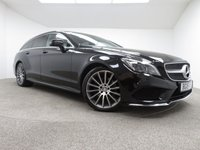 USED 2015 15 MERCEDES-BENZ CLS CLASS 2.1 CLS220 BLUETEC AMG LINE 5d 174 BHP FINISHED IN A STUNNING BLACK + SAT-NAV + BLUETOOTH + DAB-RADIO + AUX/USB + STOP/START + DUAL ZONE CLIMATE CONTROL + AIR CON + CRUISE CONTROL + PARKING SENSORS + HEATED SEATS + LEATHER