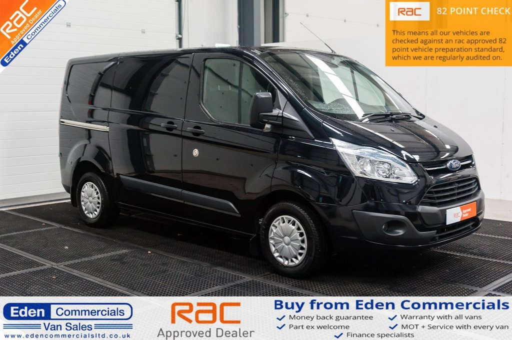 USED 2014 64 FORD TRANSIT CUSTOM 2.2 270 TREND LR P/V 124 BHP * AIR CON + CRUISE CONTROL *