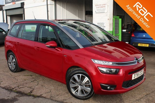 USED 2016 16 CITROEN C4 GRAND PICASSO 1.6 BLUEHDI EXCLUSIVE 5d 118 BHP 7 SEATER VIEW AND RESERVE ONLINE OR CALL 01527-853940 FOR MORE INFO.