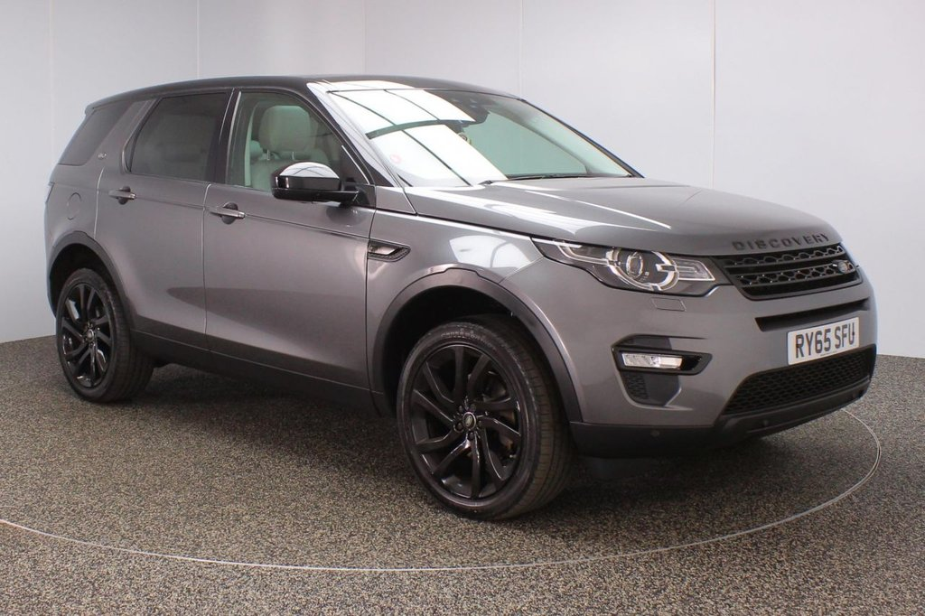 USED 2015 65 LAND ROVER DISCOVERY SPORT 2.0 TD4 HSE BLACK 180 BHP SAT NAV PAN ROOF 7 SEATS FULL SERVICE HISTORY + HEATED LEATHER SEATS + 7 SEATS + SATELLITE NAVIGATION + REVERSE CAMERA + PANORAMIC ROOF + PARKING SENSOR + BLUETOOTH + CRUISE CONTROL + CLIMATE CONTROL + MULTI FUNCTION WHEEL + DAB RADIO + PRIVACY GLASS + XENON HEADLIGHTS + ELECTRIC SEATS + ELECTRIC WINDOWS + ELECTRIC MIRRORS + 20 INCH ALLOY WHEELS