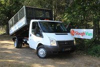 USED 2014 14 FORD TRANSIT 2.2 T350/125 DRW SINGLE CAB CAGED TIPPER Single Cab Caged Tipper, Double Rear Wheel