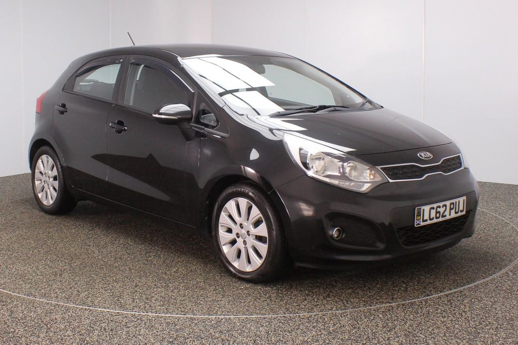 USED 2012 62 KIA RIO 1.4 2 ECODYNAMICS 5DR 107 BHP SERVICE HISTORY + BLUETOOTH + MULTI FUNCTION WHEEL + RADIO/CD/AUX/USB + AIR CONDITIONING + ELECTRIC WINDOWS + ELECTRIC MIRRORS + 16 INCH ALLOY WHEELS