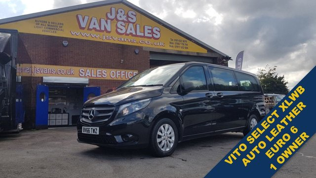 USED 2016 66 MERCEDES-BENZ VITO BLUETEC TOURER SELECT 9 SEAT LEATHER AUTOMATIC VITO SELECT EXTRA L.W.B LEATHER AUTOMATIC