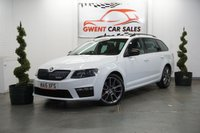 USED 2015 15 SKODA OCTAVIA 2.0 VRS TDI CR 5d 181 BHP in white ONLY ONE PRIVATE OWNER FROM NEW , GREAT SPEC LEATHER,SATNAV DAYTIME RUNNING LIGHTS