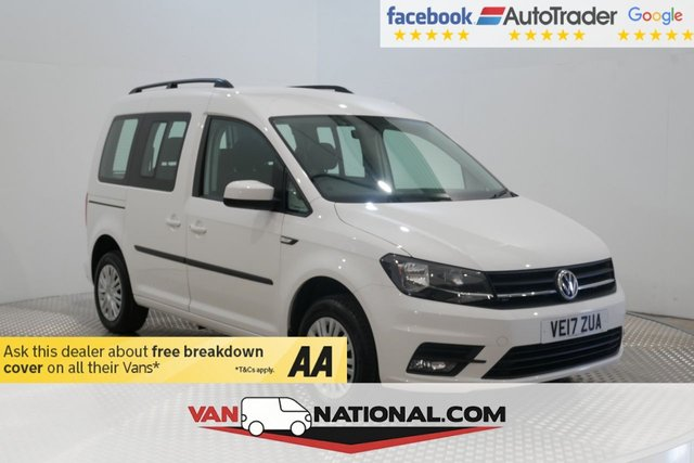 USED 2017 17 VOLKSWAGEN CADDY 2.0 C20 LIFE TDI 5d 102 BHP (EURO 6 ULEZ AIR CON)