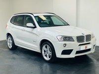 USED 2012 62 BMW X3 3.0 XDRIVE30D M SPORT 5d AUTO 255 BHP PAN ROOF + SAT NAV + SERVICE HISTORY + ALPINE WHITE