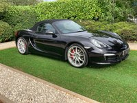 USED 2013 13 PORSCHE BOXSTER 3.4 24V S PDK 2d AUTO 315 BHP A Stunning Example of the 3rd Generation Boxster 981 with a Full Porsche Main Dealer Service History and a Fantastic Specification. Presented in Beautiful Condition with a Full Black Leather Interior, 20 Inch Alloy Wheels with Red Brake Callipers and Porsche Centre Wheel Crests. Features Include the 7 Speed PDK Gearbox, Heated Leather Sport Seats, Satellite Navigation, Dual Zone Climate Control, Wind Deflector, Cruise Control, Sports Steering Wheel and Electrically Adjustable Wing Mirrors