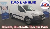 USED 2017 17 PEUGEOT PARTNER 1.6  HDI SE  AD-BLUE EURO 6, 100 BHP  3 Seats, Bluetooth, Electric Pack and more.... ** Drive Away Today** Over The Phone Low Rate Finance Available, Just Call us on 01709 866668 **