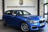 "USED 2016 66 BMW 1 SERIES 3.0 M140I 5DR AUTO 335 BHP full service history Finished in a stunning estoril metallic blue styled with 18"" alloys. Upon opening the drivers door you are presented with full leather inetrior, full bmw service history, satellite navigation, bluetooth, heated sport seats, dab radio, Cruise control with brake function, Light package, LED headlights, Automatic air conditioning, rain sensors, Interior/outside mirrors with auto dip, Connected Drive Services, parking sensors"