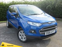 USED 2016 66 FORD ECOSPORT 1.0 ZETEC 5d * 1 OWNER FROM NEW * 128 POINT AA INSPECTED * LOW MILEAGE CAR *