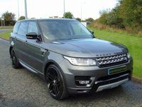 "USED 2015 65 LAND ROVER RANGE ROVER SPORT 3.0 SDV6 HSE 5d AUTO 306 BHP 7 SEATS, BLACK ROOF, 22"" ALLOYS"