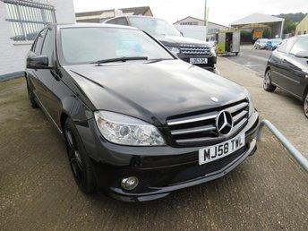 2009 MERCEDES-BENZ C CLASS 2.1 C220 CDI AMG DIESEL SPORT + AUTO + FULL LEATHER + £4880.00
