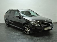 USED 2015 15 MERCEDES-BENZ E CLASS 2.1 E220 BLUETEC AMG NIGHT EDITION 5d AUTO 174 BHP 1 OWNER + FULL MERCEDES HISTORY + FULL HEATED LEATHER + SAT NAV