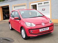 USED 2014 14 VOLKSWAGEN UP 1.0 HIGH UP 5d 74 BHP Sat Nav, Heated Seats, 5 Service stamps, 1 owner