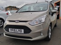 """USED 2015 15 FORD B-MAX 1.6 ZETEC TDCI 5d 96 BHP 5 Service Stamps, 15"""" alloys, Rear Parking Sensors, Bluetooth Technology"""