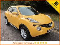USED 2016 66 NISSAN JUKE 1.6 ACENTA XTRONIC 5d AUTO 117 BHP.*CLIMATE*CRUISE* Fantastic Low Mileage Automatic Nissan Juke in Stunning Yellow with Climate Control, Cruise Control, Alloy Wheels and Nissan Service History. This Vehicle is ULEZ Compliant