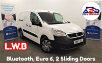 USED 2017 17 PEUGEOT PARTNER 1.6 BLUE HDI L2 100 BHP Long Wheel Base with 2 Sliding Doors, Bluetooth, Electric Pack, Euro 6 Compliant and more ** Drive Away Today** Over The Phone Low Rate Finance Available, Just Call us on 01709 866668 **