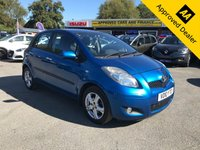 USED 2010 10 TOYOTA YARIS 1.3 TR VVT-I 5d 99 BHP IN METALLIC BLUE WITH 82,000 MILES AND A FULL SERVICE HISTORY!  ( ULEZ COMPLIANT ) APPROVED CARS AND FINANCE ARE PLEASED TO OFFER THIS TOYOTA YARIS 1.3 TR VVT-I 5 DOOR 99 BHP IN METALLIC BLUE WITH 82,000 MILES AND A FULL SERVICE HISTORY AT 5K, 15K, 24K, 32K, 38K, 42K,  AND 69K. THIS VEHICLE HAS A GOOD SPEC SUCH AS USB, ALLOY WHEELS, ELECTRIC WINDOWS, AIR CONDITIONING, AND MUCH MORE. THIS IS A PERFECT FIRST TIME CHEAP CAR WITH A GOOD SERVICE HISTORY AND DRIVES GREAT. FOR FURTHER INFORMATION PLEASE CALL ON 01622871555.