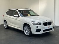 USED 2012 62 BMW X1 2.0 SDRIVE18D M SPORT 5d 141 BHP WHITE WITH PAN ROOF + RED LEATHER + LOW MILES