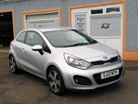 "USED 2012 12 KIA RIO 1.4 3 3d 107 BHP Parking Sensors, Heated Seats, Bluetooth, 17"" Alloys, 4 Service Stamps"