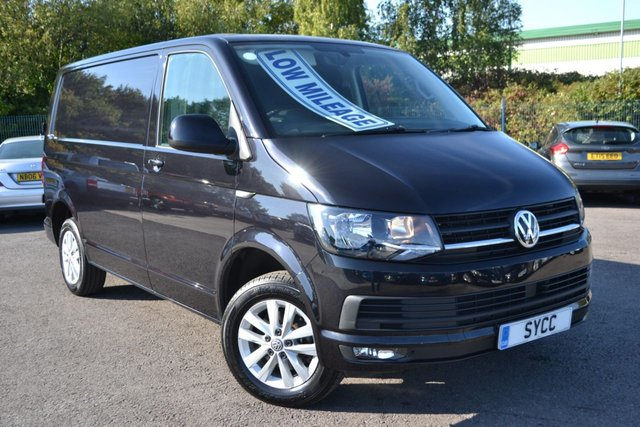 USED 2018 18 VOLKSWAGEN TRANSPORTER 2.0 T28 TDI P/V HIGHLINE BMT 5d 101 BHP TECH PACK DEEP BLACK PEARL ~ BALANCE OF VW WARRANTY REMAINING