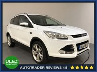 USED 2014 64 FORD KUGA 2.0 TITANIUM TDCI 5d 148 BHP SERVICE HISTORY - 1 OWNER - HALF LEATHER - REAR SENSORS - BLUETOOTH - AIR CON - CRUISE - DAB - AUX