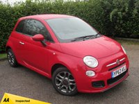 USED 2013 63 FIAT 500 1.2 S 3d * 12 MONTHS FREE AA MEMBERSHIP * 128 POINT AA INSPECTED *