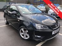 USED 2016 16 SEAT IBIZA 1.2 TSI FR TECHNOLOGY 3d 89 BHP MOT'D TILL AUGUST 2020