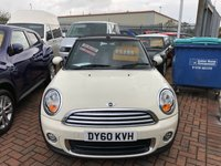 USED 2010 60 MINI CONVERTIBLE 1.6 ONE 2d 98 BHP JUST ARRIVED AWAITING PHOTOS AND VIDEO AND WAITING TO BE CLEANED NEED ANYMORE INFORMATION PLEASE GIVE US A CALL ON 01536 402161