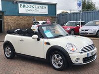 2010 MINI CONVERTIBLE 1.6 ONE 2d 98 BHP £5495.00