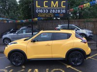 "USED 2016 16 NISSAN JUKE 1.5 N-CONNECTA DCI 5d 110 BHP STUNNING YELLOW PAINTWORK WITH DARK GREY CLOTH UPHOLSTERY. FULL SERVICE HISTORY. SATELLITE NAVIGATION. REAR CAMERA. LARGE ELECTRIC GLASS SUNROOF. 18"" BLACK ALLOY WHEELS. CRUISE CONTROL. DAB RADIO. AIR CONDITIONING. REMOTE CENTRAL LOCKING WITH TWO KEYS. ELECTRIC WINDOWS. PLEASE GOTO www.lowcostmotorcompany.co.uk TO VIEW OVER 120 CARS IN STOCK"