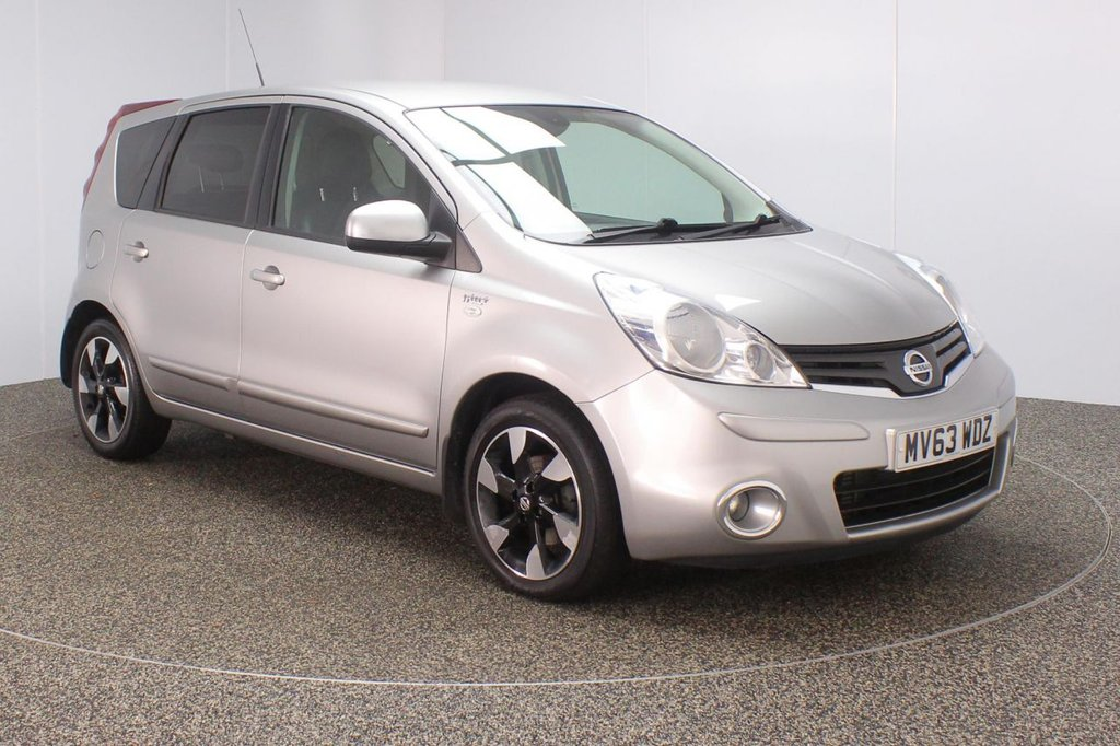 USED 2013 63 NISSAN NOTE 1.5 N-TEC PLUS DCI 5DR 1 OWNER 89 BHP FULL NISSAN SERVICE HISTORY + £20 12 MONTHS ROAD TAX + HALF LEATHER SEATS + SATELLITE NAVIGATION + PARKING SENSOR + BLUETOOTH + CRUISE CONTROL + AIR CONDITIONING + MULTI FUNCTION WHEEL + PRIVACY GLASS + ELECTRIC WINDOWS + ELECTRIC MIRRORS + 16 INCH ALLOY WHEELS
