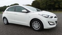 USED 2013 63 HYUNDAI I30 1.4 CLASSIC 5d 98 BHP SERVICE HISTORY, 2 X KEYS, AIR-CONDITIONING, REMOTE LOCKING, ELECTRIC WINDOWS, WHITE, ELECTRIC MIRRORS, CD-PLAYER, ECONOMICAL, NATION WIDE DELIVERY, FINANCE AVAILABLE