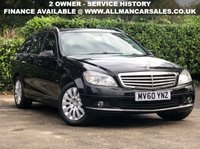 2010 MERCEDES-BENZ C CLASS 2.1 C220 CDI BLUEEFFICIENCY ELEGANCE 5d 170 BHP £4795.00