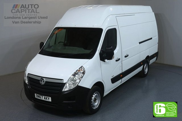 2017 67 VAUXHALL MOVANO 2.3 R3500 RWD L3 H3 123 BHP EURO 6 ENGINE ONE OWNER FROM NEW