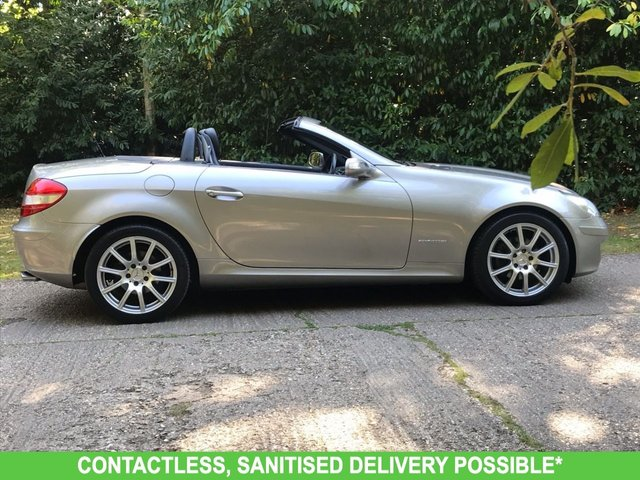 USED 2005 55 MERCEDES-BENZ SLK 1.8 SLK200 KOMPRESSOR 2d AUTO 161 BHP AUTOMATIC LOW MILEAGE, MANY EXTRAS.FINANCE ME TODAY-UK DELIVERY POSSIBLE