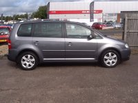 USED 2005 55 VOLKSWAGEN TOURAN 2.0 SPORT TDI DSG 7 STR 5d AUTO 138 BHP * 1 OWNER, LEATHER, HISTORY * 95000 MILES, LEATHER, 1 OWNER, FULL SERVICE HISTORY