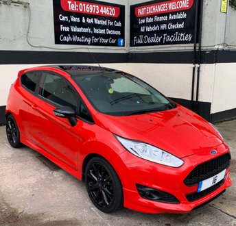 2016 FORD FIESTA ZETEC S RED 1.0 ECOBOOST NAVIGATION 3DR 140 BHP, LOW RUNNING COSTS £8495.00