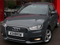 USED 2015 65 AUDI A1 1.6 TDI SPORT 3d AUTO 115 S/S 1 OWNER FROM NEW, FULL AUDI SERVICE HISTORY, £0 ROAD TAX (97 G/KM), UPGRADE REAR PARKING SENSORS, UPGRADE CRUISE CONTROL, UPGRADE AUTO DIMMING REAR VIEW MIRROR, UPGRADE RAIN & LIGHT SENSORS WITH HIGH BEAM ASSIST, UPGRADE WINDSCREEN SUN BAND, DAB RADIO, BLUETOOTH PHONE & MUSIC STREAMING, AUDI MUSIC INTERFACE, AUDI DRIVE SELECT, LEATHER TIPTRONIC MULTIFUNCTION STEERING WHEEL (PADDLE SHIFT), AIR CONDITIONING, CD & SD CARD READER, TYRE PRESSURE MONITORING, VAT QUALYFING