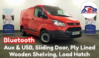 USED 2016 16 FORD TRANSIT CUSTOM 2.2 TDCi in Red with Bluetooth, Aux & USB, Bulkhead with Load Through Hatch, Security Locks, Sliding Door, 3 Seats and more ** Drive Away Today** Over The Phone Low Rate Finance Available, Just Call us on 01709 866668 **