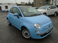 USED 2011 61 FIAT 500 1.2 LOUNGE 3d 69 BHP 1 OWNER+NEW MOT+NEW SERVICE