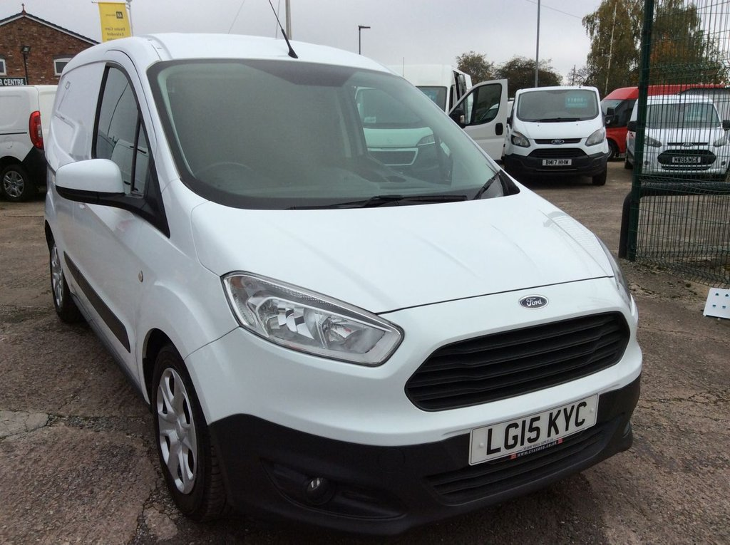 USED 2015 15 FORD TRANSIT COURIER 1.5 TREND TDCI 74 BHP 1 OWNER FSH NEW MOT AIR CON RACKING FREE AA WARRANTY INCLUDING RECOVERY AND ASSIST NEW MOT EURO 5 AIR CONDITIONING RACKING SPARE KEY ELECTRIC WINDOWS AND MIRRORS BLUETOOTH REAR PARKING SENSORS