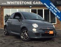 USED 2014 14 FIAT 500 1.2 S 3d 69 BHP LOW MILES, £30 ROAD TAX, SPORT BODY STYLING KIT, BLUETOOTH, FSH,
