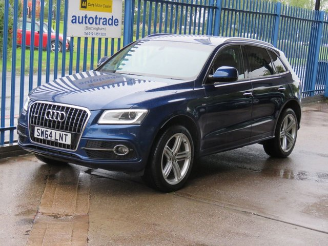 USED 2014 64 AUDI Q5 2.0 TDI QUATTRO S Line Plus S/S 5dr Sat nav Leather Cruise Privacy Finance arranged Part exchange available Open 7 days