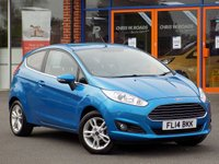USED 2014 14 FORD FIESTA 1.2 Zetec 3dr **Ford SYNC Bluetooth + A/C**