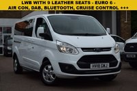 USED 2018 18 FORD TOURNEO CUSTOM 2.0 310 TITANIUM TDCI 5d 129 BHP VAT inclusive price of £20999 for this 2018 Ford Transit custom Tourneo 2.0tdci 130 LWB TITANIUM 9 SEAT in white. Euro 6 compliant. High specification includes rear privacy glass, park sensors, bluetooth and DAB radio.