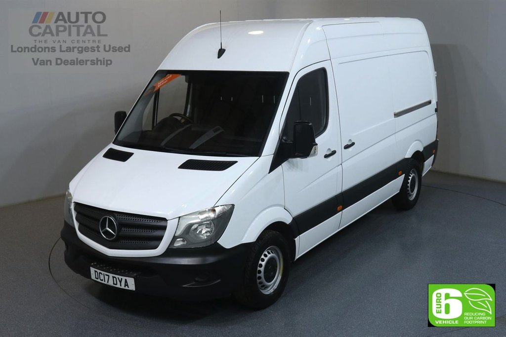 USED 2017 17 MERCEDES-BENZ SPRINTER 2.1 314CDI 140 BHP MWB EURO 6 ENGINE ONE OWNER, SERVICE HISTORY