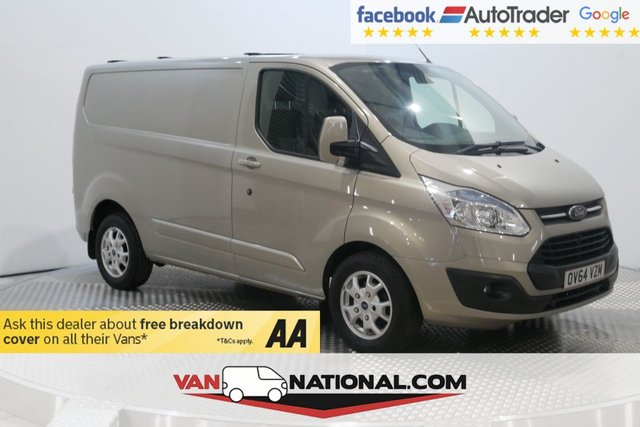 USED 2014 64 FORD TRANSIT CUSTOM 2.2 270 LIMITED LR P/V 125 BHP (Air Con Alloys Heated Screen) *  BLUETOOTH * DAB * AIR CON * ELECTRIC FOLDING MIRRORS * REAR PARKING SENSORS * HEATED DRIVERS SEAT *